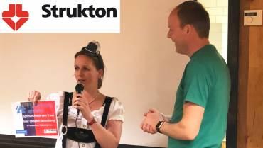 Uitreiking Strukton cheque